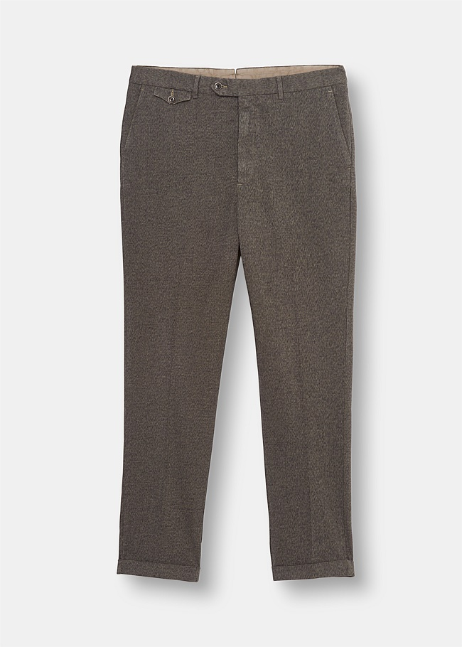 Mélange Cotton Garment Dyed Chino