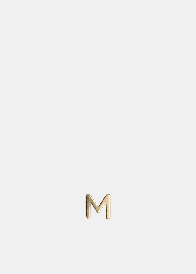 Single Petite Letter M Earring