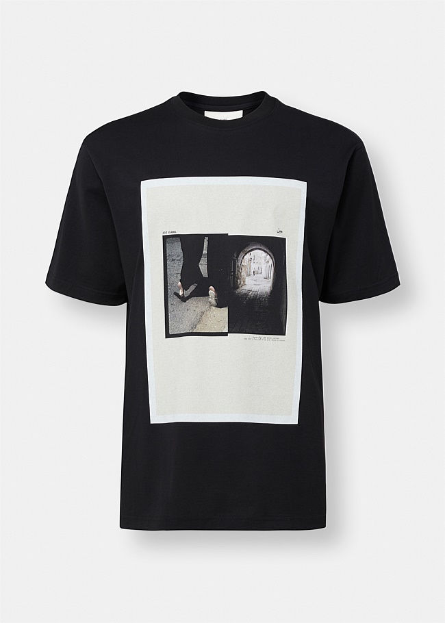 Tunnel Photograph Graphic Oversized Tee