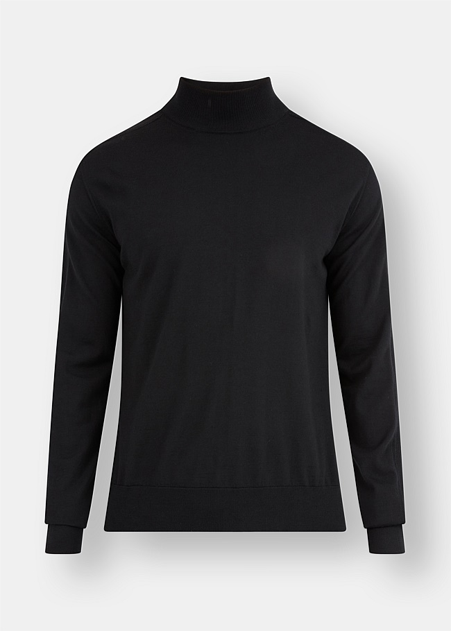 Sustainable Wool Mock Neck Knit