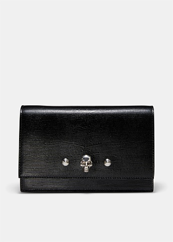 Skull and Stud Embellished Shoulder Bag