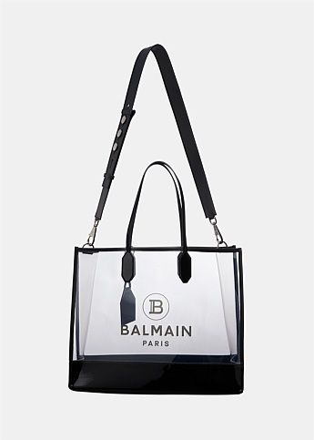 Medium Logo Printed PVC Transparent Tote