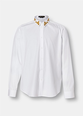 Baroque Detail Cotton Shirt