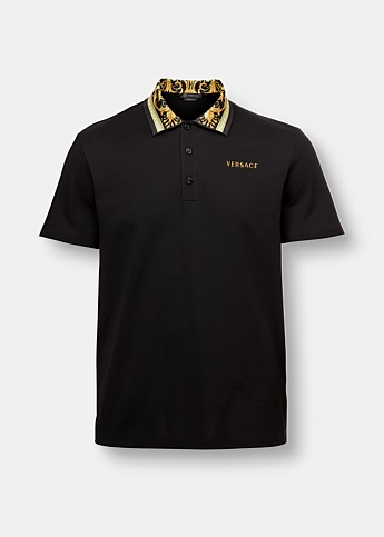 Baroque Detail Polo Shirt