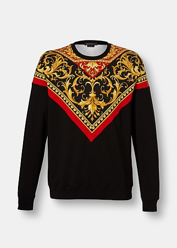Baroque Graphic Print Sweatshirt