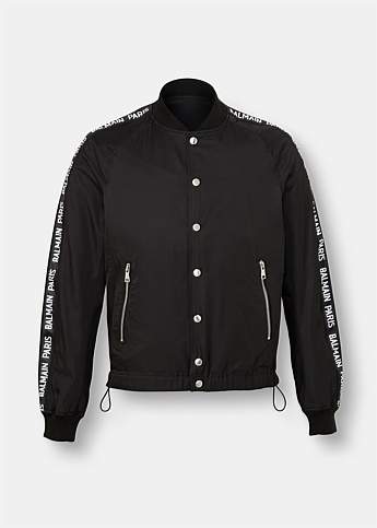 Taped Logo Bomber Jacket