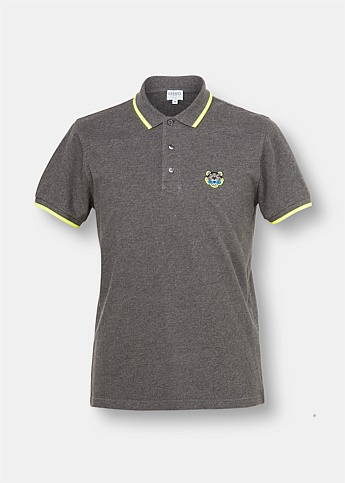 Slim Fit Appliqué Tiger Polo Shirt