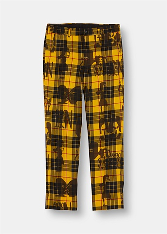 Graphic Print Tartan Trousers