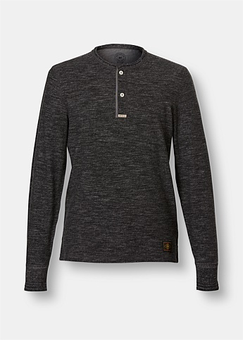 Gerrards Melange Grey Henley Jumper