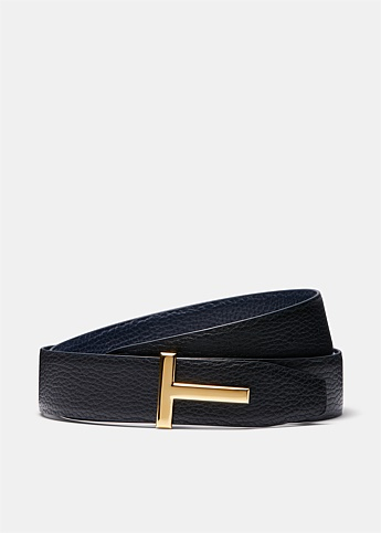 Reversible T Leather Belt