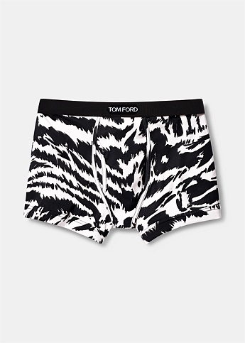 Zebra Cotton Boxer Briefs