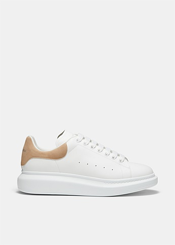 Suede Trim Heel Oversized Sneakers