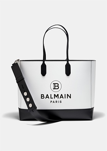 Medium Logo Printed Leather Tote