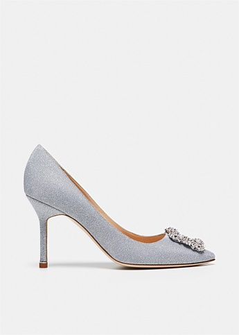 Hangisi 90 Glitter Jewel Buckle Pumps
