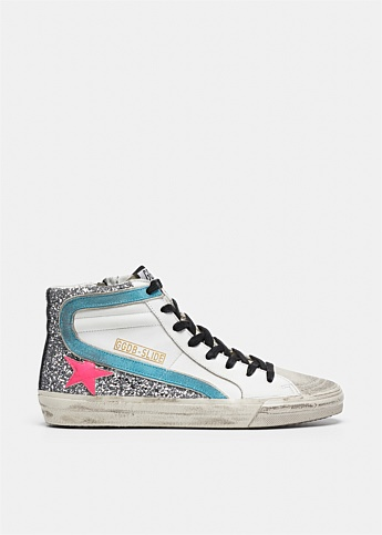 Slide Glittered Hi-Top Sneakers