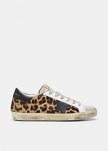 Superstar Leopard Print Low-Top Sneakers