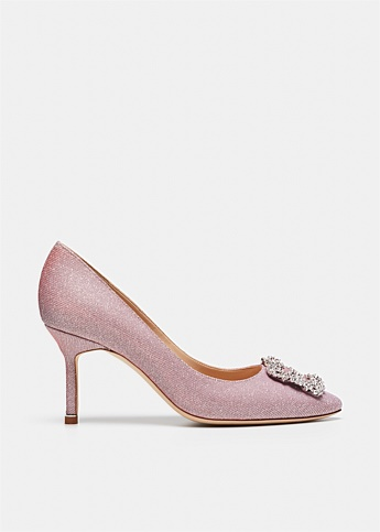 Hangisi 70 Glitter Jewel Buckle Pumps