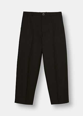 Slim-Fit Cropped Cotton Trousers