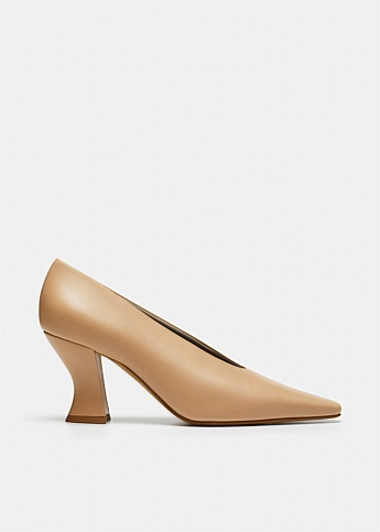 Almond Leather Pump