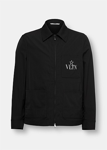 VLTN Star Print Windbreaker