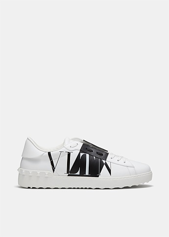 Leather VLTN Star Logo Open Sneaker