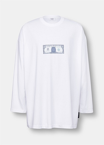 Dollar Bill Graphic Print T-Shirt