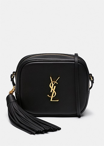 Monogram Leather Blogger Cross Body Bag