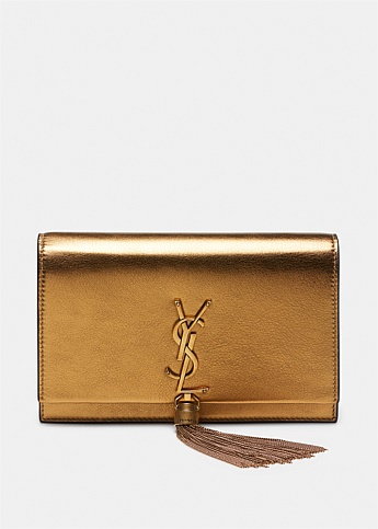 Kate Tassel Metallic Chain Wallet