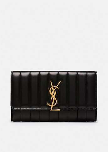 Vicky Monogram Flap Wallet