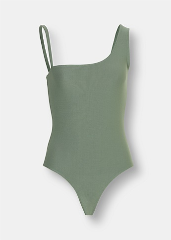 One Shoulder One-Piece Swimsuit