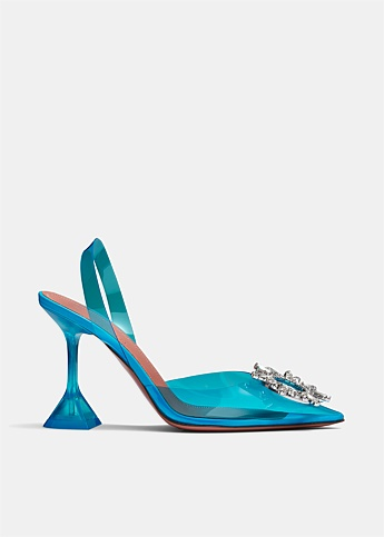 Begum Glass PVC Slingback Pumps