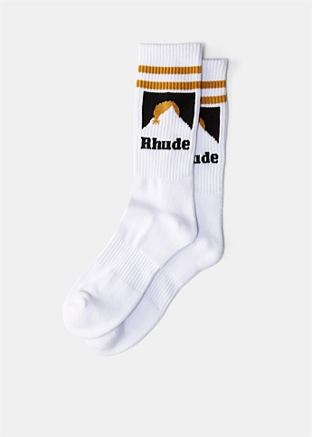 White Mountain Logo Socks