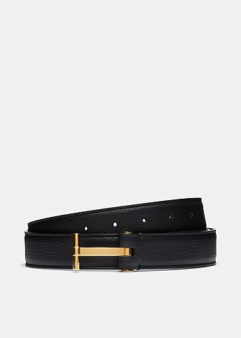T Buckle Leather Belt