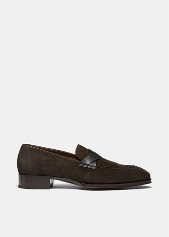 Elkan Suede Twisted Band Loafer