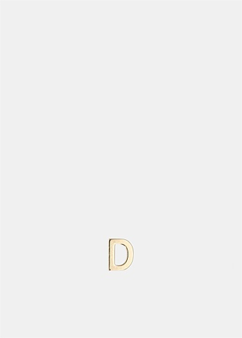 Single Petite Letter D Earring