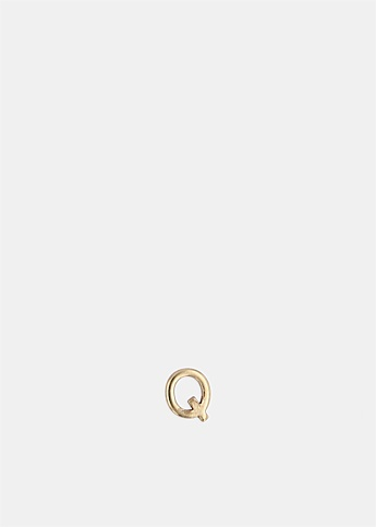 Single Petite Letter Q Earring