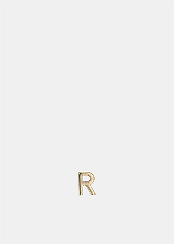 Single Petite Letter R Earring