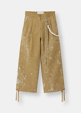 Paint Splatter Wide Leg Trousers