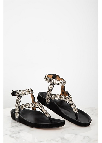Eldo Coin Embellished Sandals
