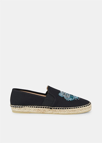 Canvas Embroidered Tiger Espadrilles