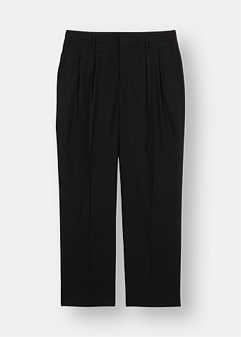 Straight Leg Double Pleat Trousers