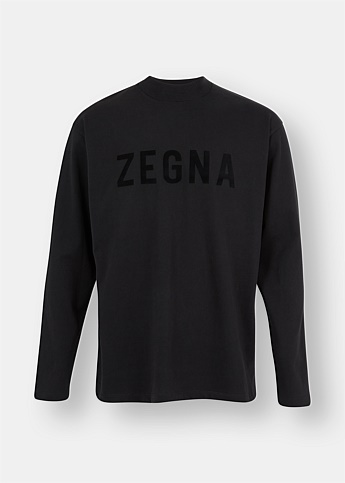 Oversized Long Sleeve Logo Tee