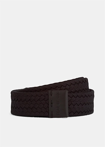 Logo Embossed Braided Belt