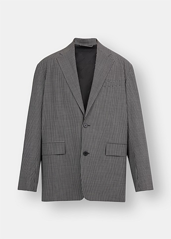 Checked Boxy Blazer