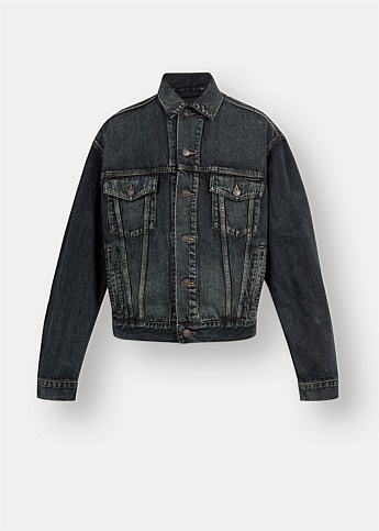 Embroidered Logo Denim Jacket