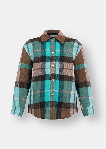Ocilia Checked Shirt Jacket