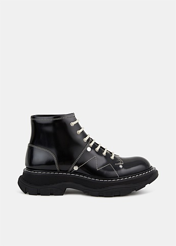 Tread Leather Lace-Up Boot