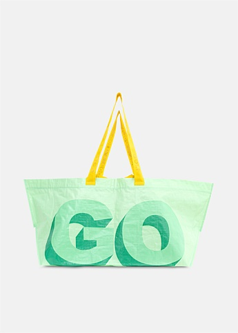 Golf 3D Logo Plastic Tote Bag