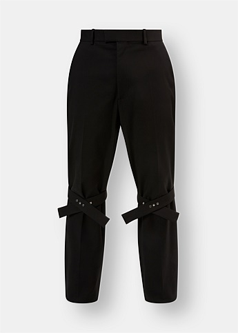 Buckle Detail Tapered Trousers