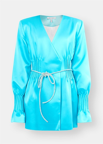 Aqua Blue Blazer Dress